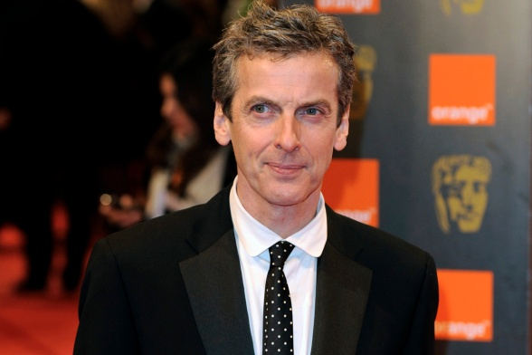 Actor Peter Capaldi arrives at the BAFTA awards ceremony in London